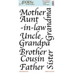Carolee's Creations - Adornit - Family Hertiage Collection - Clear Stickers - Family Words - Black