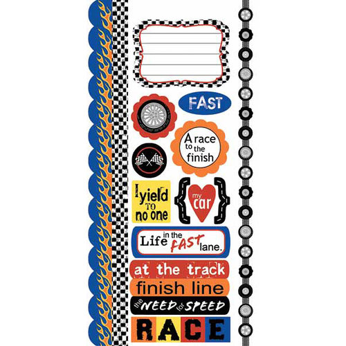 Carolee's Creations - Adornit - Rev em Up Collection - Cardstock Stickers - Rev em Up