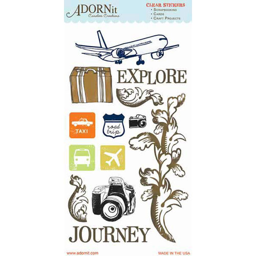 Carolee's Creations - Adornit - Destination Collection - Clear Stickers - Explore