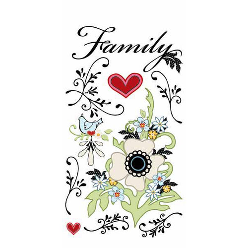 Carolee's Creations - Adornit - Vintage Groove Collection - Clear Stickers - Vintage Family
