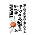 Carolee's Creations - Adornit - Basketball Collection - Clear Stickers - Basketball