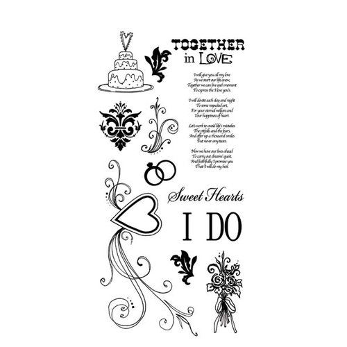 Carolee's Creations - Adornit - Wedding Collection - Clear Stickers - I Do