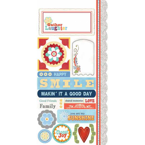 Carolee's Creations - Adornit - Bouquet Patches Collection - Cardstock Stickers - Gather Laughter