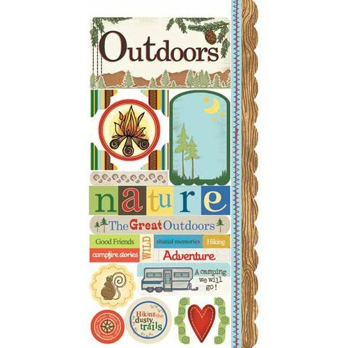 Carolee's Creations - Adornit - Camping Friends Collection - Cardstock Stickers - Camping Friends