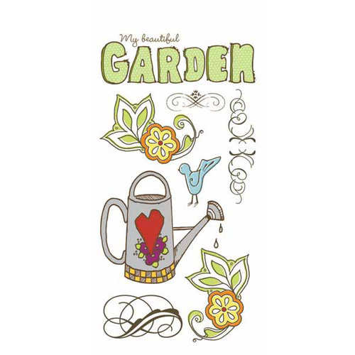 Carolee's Creations - Adornit - Garden Fun Collection - Clear Stickers - Garden Fun