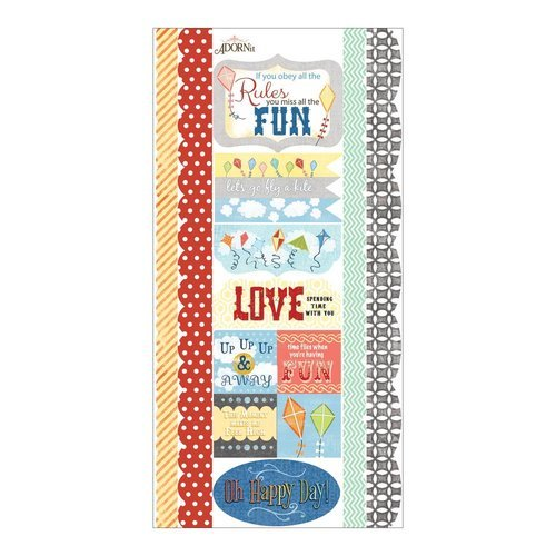 Carolee's Creations - Adornit - Time Flies Collection - Cardstock Stickers - Time with You