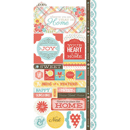 Carolee's Creations - Adornit - Home Tweet Home Collection - Cardstock Stickers - Nest