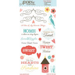 Carolee's Creations - Adornit - Home Tweet Home Collection - Clear Stickers - So Tweet