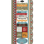 Carolee's Creations - Adornit - Rough and Tough Collection - Cardstock Stickers - Live out Loud Border