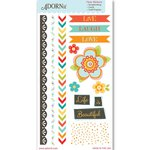 Carolee's Creations - Adornit - Crazy for Daisy Collection - Clear Stickers - Juicy Fruit