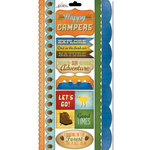 Carolee's Creations - Adornit - Happy Trails Collection - Cardstock Stickers - Happy Campers
