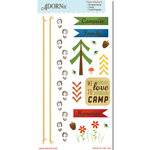Carolee's Creations - Adornit - Happy Trails Collection - Clear Stickers - Campsite
