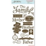Carolee's Creations - Adornit - Wisteria Collection - Clear Stickers - Wonderful Family