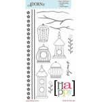 Carolee's Creations - Adornit - Rhapsody Bop Collection - Clear Stickers - Take Flight
