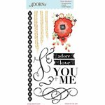 Carolee's Creations - Adornit - You and Me Collection - Clear Stickers - Adore