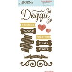 Carolee's Creations - Adornit - Hound Dog Collection - Clear Stickers - Woof
