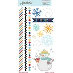 Carolee's Creations - Adornit - Snow Days Collection - Clear Stickers - Let It Snow