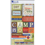 Carolee's Creations Adornit - Back 2 Nature Collection - Cardstock Stickers - Dusty Trails, CLEARANCE