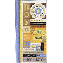 Carolee's Creations Adornit - Boys Are Fun Collection - Cardstock Stickers - Boys Are Fun