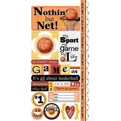 Carolee's Creations - Adornit - Basketball Collection - Cardstock Stickers - Basketball Attitude