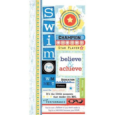 Carolee's Creations - Adornit - Swimming Collection - Cardstock Stickers - Swimming Attitude