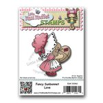 CC Designs - Cling Mounted Rubber Stamps - Fancy Sunbonnet Love