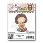 CC Designs - Cling Mounted Rubber Stamps - Polka Dot Pals Lydie