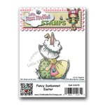 CC Designs - Cling Mounted Rubber Stamps - Fancy Sunbonnet Easter
