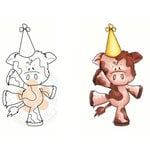 CC Designs - Cling Mounted Rubber Stamps - Moo-valous