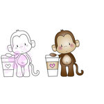CC Designs - Cling Mounted Rubber Stamps - Latte Monkey