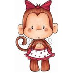 CC Designs - Cling Mounted Rubber Stamps - Mrs Monkey