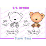 CC Designs - Cling Mounted Rubber Stamps - Fluffy Bear