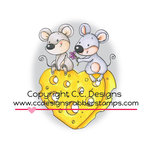 CC Designs - Cling Mounted Rubber Stamps - Mousey Love