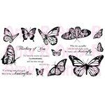 CC Designs - Cling Mounted Rubber Stamps - Butterfly Sentiments