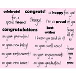 CC Designs - Cling Mounted Rubber Stamps - Congrats Sentiments