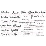 CC Designs - Cling Mounted Rubber Stamps - All Women Sentiments