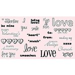 CC Designs - Cling Mounted Rubber Stamps - All About Love Sentiments