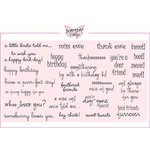 CC Designs - Cling Mounted Rubber Stamps - Critter Sentiments