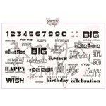CC Designs - Cling Mounted Rubber Stamps - It is Your Birthday