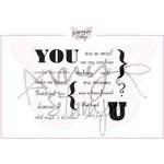 CC Designs - Cling Mounted Rubber Stamps - All About You Sentiments