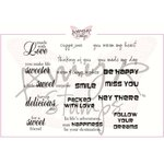 CC Designs - Cling Mounted Rubber Stamps - Mixed Messages Sentiments