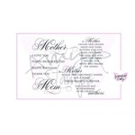 CC Designs - Cling Mounted Rubber Stamps - All About Mom Sentiments