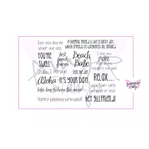 CC Designs - Cling Mounted Rubber Stamps - Oh So Beachy Sentiments