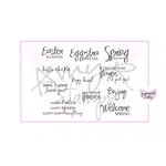 CC Designs - Cling Mounted Rubber Stamps - Eggstra Special Sentiments