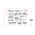 CC Designs - Cling Mounted Rubber Stamps - Sunny Sentiments