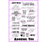 CC Designs - Cling Mounted Rubber Stamps - Adoring You Sentiments