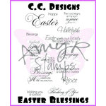 CC Designs - Cling Mounted Rubber Stamps - Easter Blessings Sentiments
