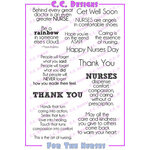 CC Designs - Cling Mounted Rubber Stamps - For The Nurses Sentiments