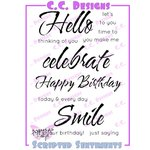 CC Designs - Cling Mounted Rubber Stamps - Scripted Sentiments