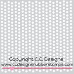 CC Designs - 6 x 6 Stencil - Dots